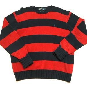 POLO Ralph Lauren Striped Cotton Sweater Large